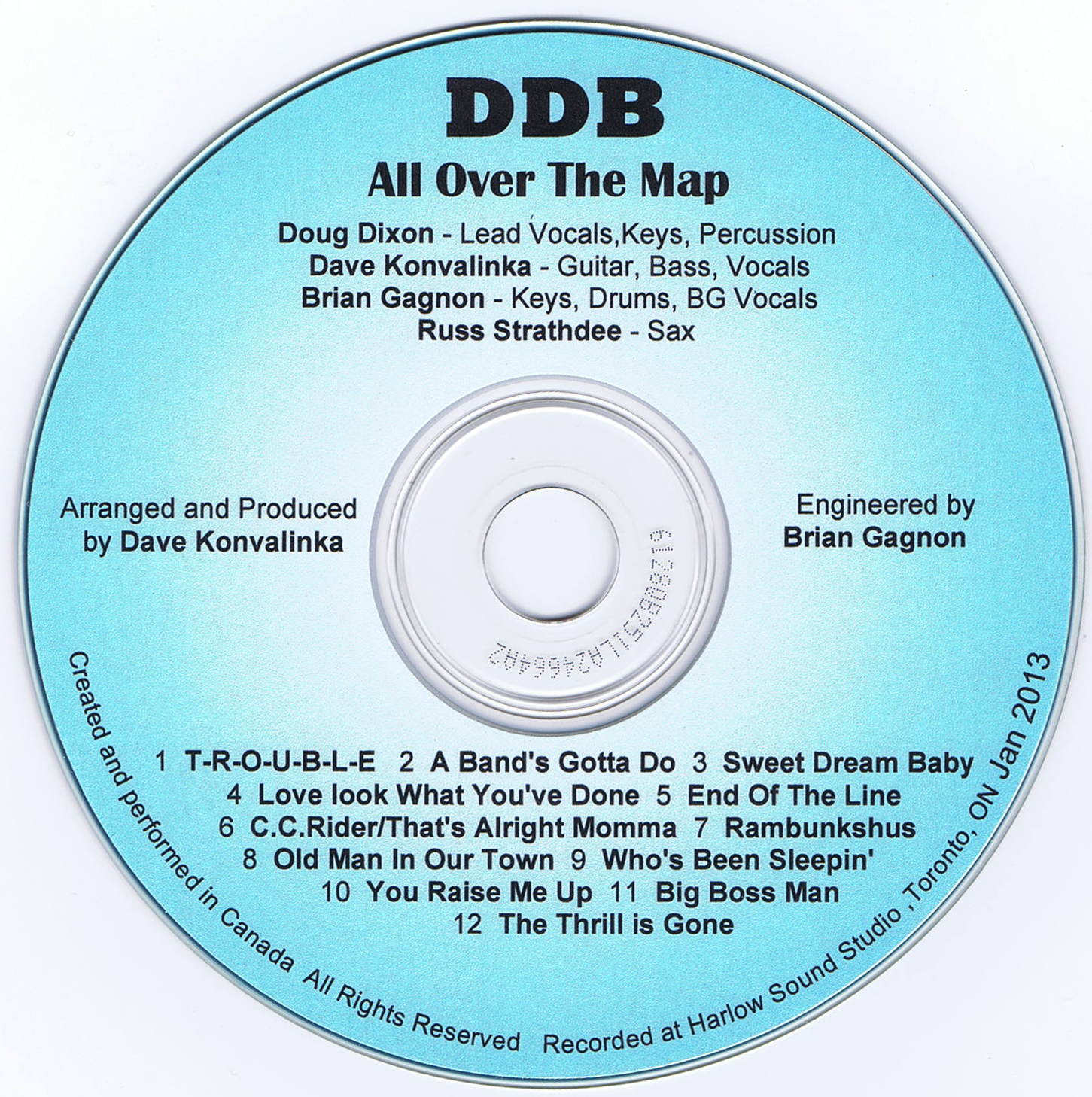 DDB - All Over The Map